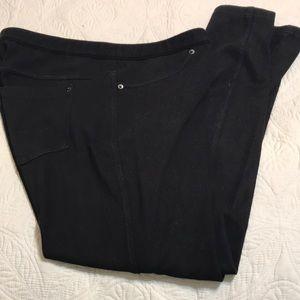 HUE black pullon Leggings Jeans Small
